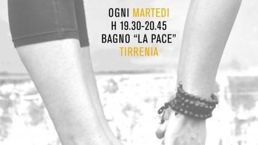 """I benefici dello Yoga al bagno """"La Pace"""" di Tirrenia"""